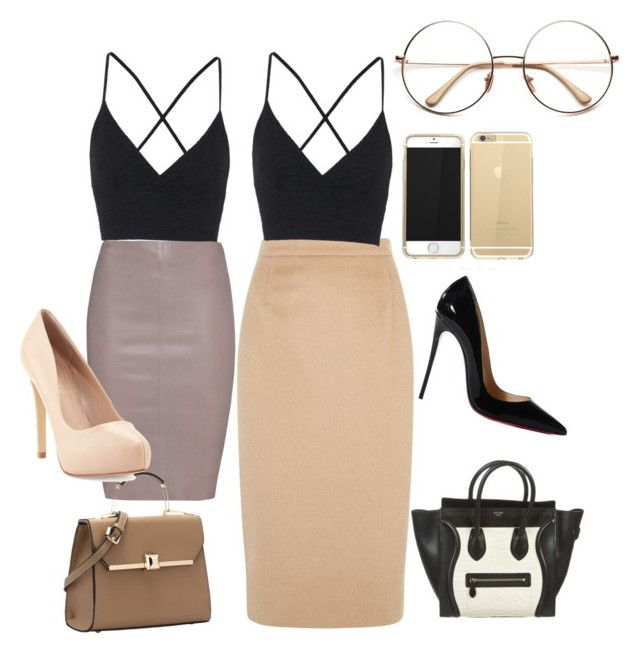 """""""A day out"""" by mya-christine on Polyvore featuring Topshop, Jitrois, Jaeger, CÉLINE, Charles by Charles David and Christian Louboutin"""