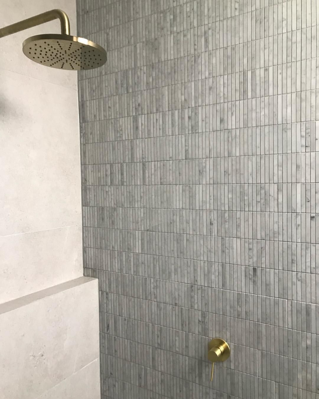Our La Aggregate Porcelain Floors And Walls Paired With A Feature Wall Of Our Carrara Fingers Stunning Spaces By Th Porcelain Flooring Feature Wall Carrara