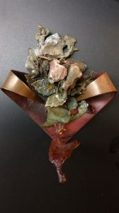 'My Late Summer Rose Brooch' by Quinten Rhea  {personally reserved for ADrian of ShalottLily Jewelry.  Support her efforts and order some of her amazing one-of-a-kind designs.http://www.etsy.com/shop/Shalottlilly5 you'll be glad you did.}