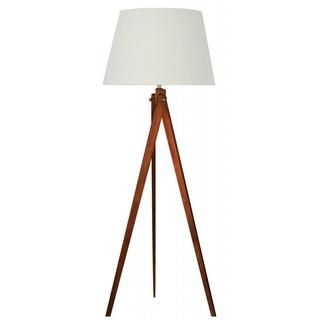 Designer wood tripod floor lamp with brushed nickel accents top designer wood tripod floor lamp with brushed nickel accents aloadofball Choice Image