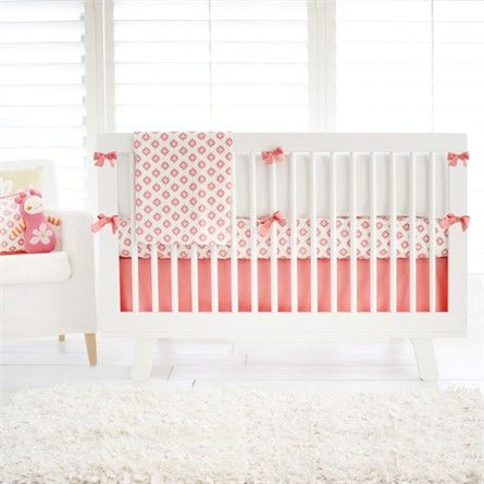 Rosenberry Rooms has everything imaginable for your child's room! Share the news and get $20 Off  your purchase! (*Minimum purchase required.) Aztec in Coral and Gold Crib Bedding Set #rosenberryrooms