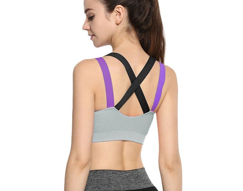 ab43c02dc7 Cheapest Women Cross Back Push Up Padded Sports Bras Wirefree Shockproof Gym  Fitness Athletic Running Yoga Crop top deportivo mujer