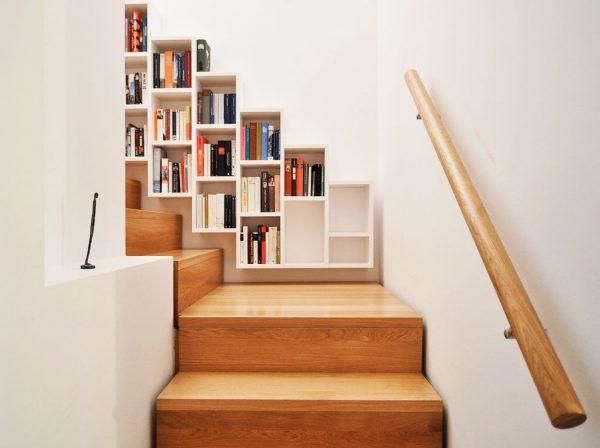 Librerías y escaleras: una buena combinación para decorar | Escalera ...