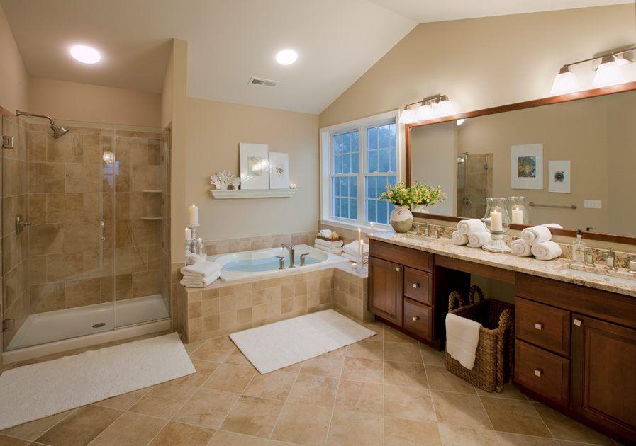 astonishing washroom ideas bedroom   21+ Astonishing Beige Bathroom Ideas   Master bathroom tub ...