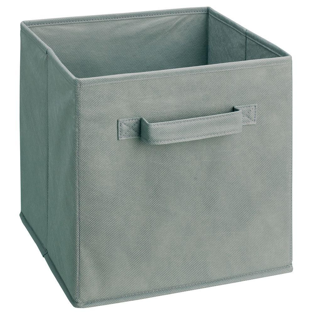 Closetmaid Cubeicals 11 In H X 10 5 In W X 10 5 In D Fabric Storage Bin In Gray Fabric Storage Bins Fabric Drawers Fabric Storage