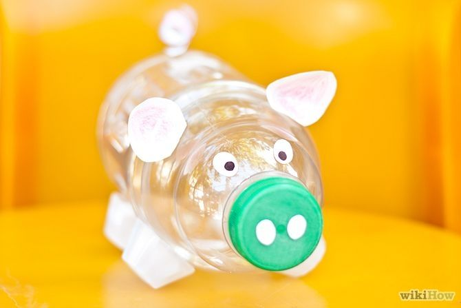 How To Make A Piggy Bank Faroles Con Botellas Plasticas Artesanías De Botella De Plástico Hucha