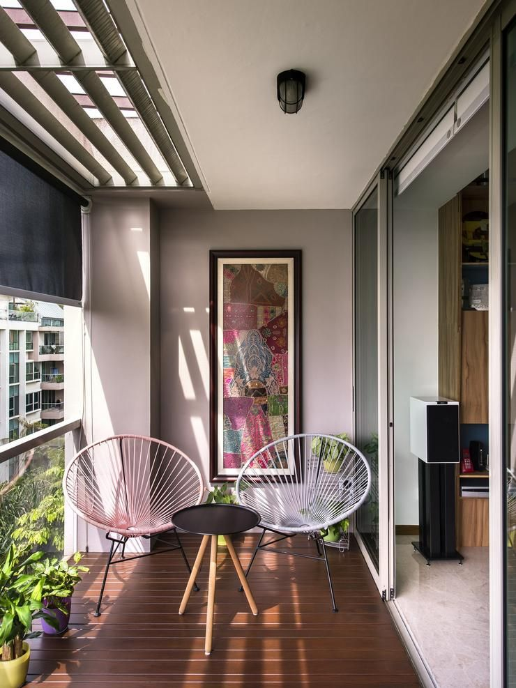 13 balcony designs that ll put you at ease instantly for Balcony interior design