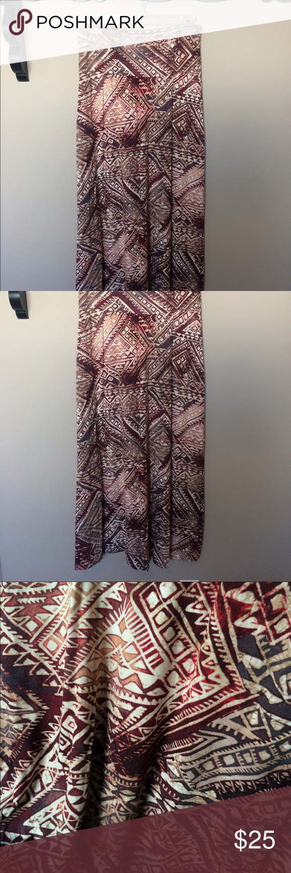 ✨SALE✨ DOWNEAST AZTEC MAXI SKIRT ✨$5 off✨was $25✨   Such a pretty pattern with great colors! Brand new, NEVER been worn. Fits exactly as you'd expect a maxi skirt too. And also made out of soft stretchy fabric. Downeast Skirts Maxi