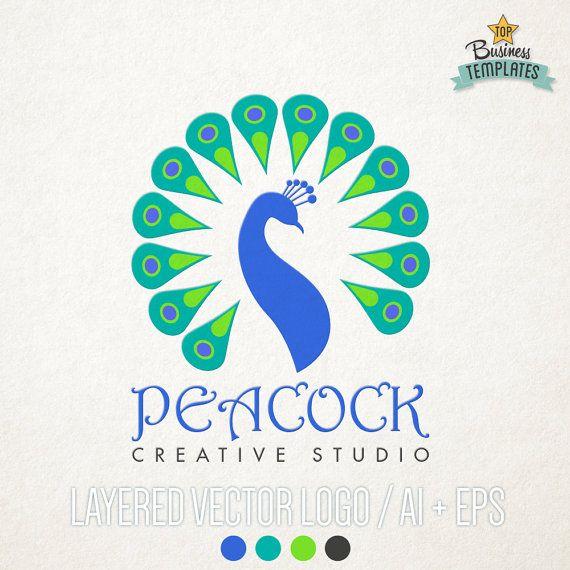 peacock vector logo hand drawn logo logo by