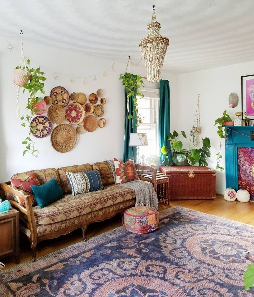 47 Romantic Bohemian Style Living Room Design Ideas Rengusuk Com Bohemian Style Living Room Bohemian Style Decor Bohemian Living Room