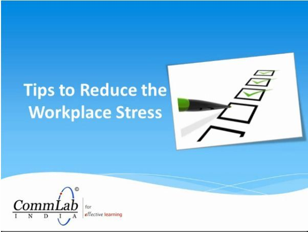 tips to reduce stress at workplace