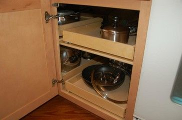Pull Out Shelves Blind Corner Solution Cabinet And Drawer Organizers