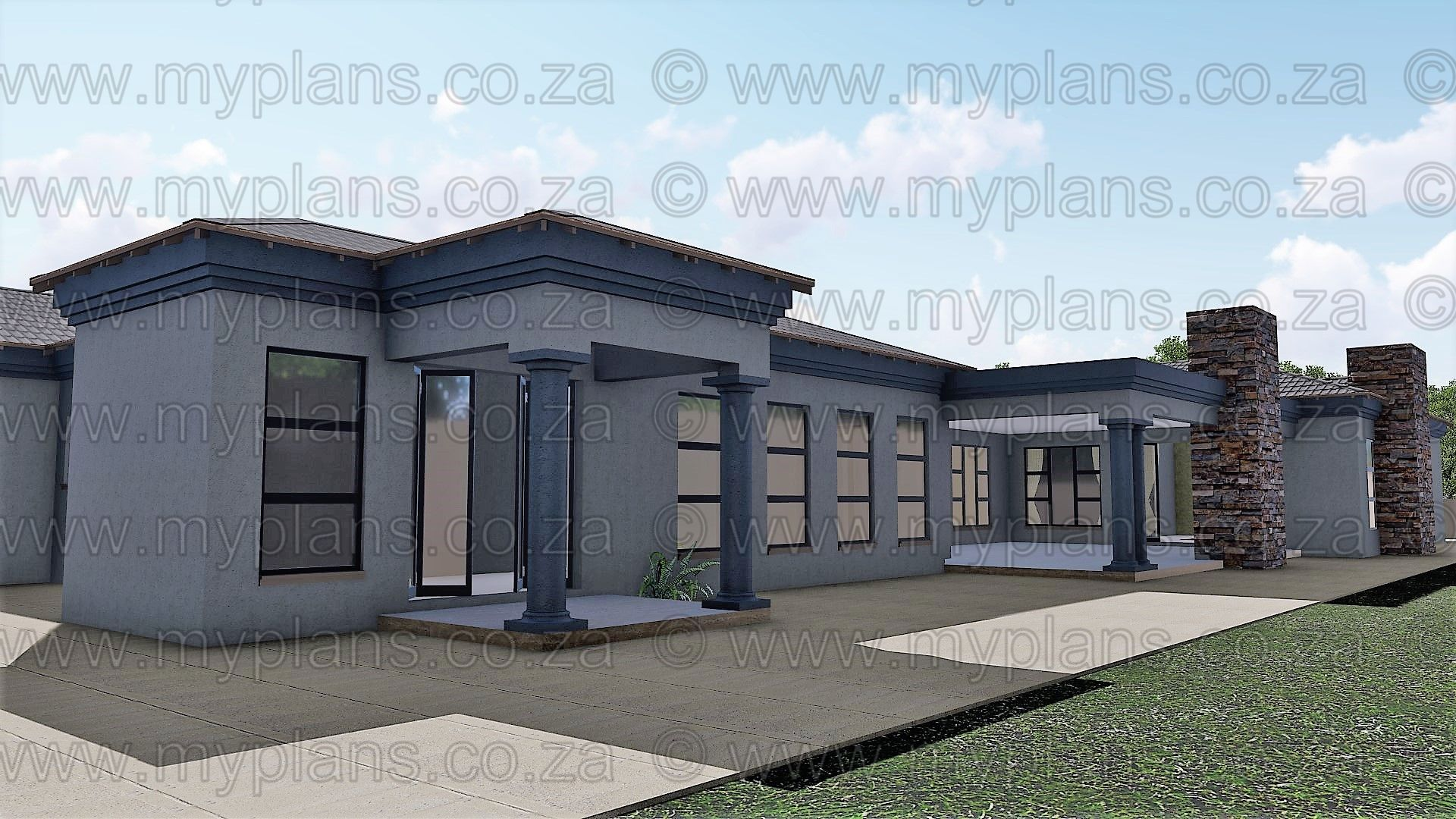 4 Bedroom House Plan Mlb 058 1s My Building Plans South Africa
