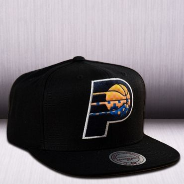 55d560d9f92 Mitchell   Ness NBA Indiana Pacers Easy Three Digital XL Snapback Cap Nba  Merchandise