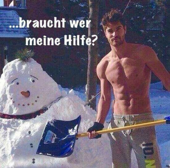 sexy Männer im Schnee