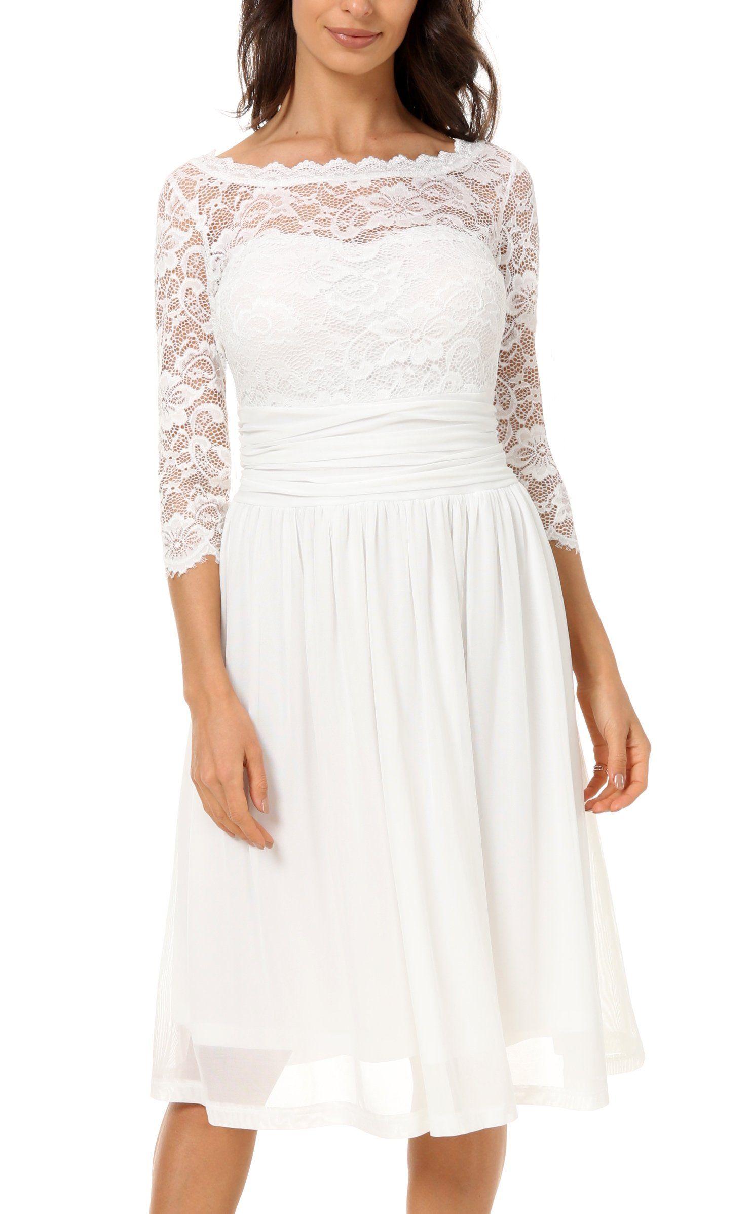 DILANNI Women's Vintage Formal Floral Lace 3/4 Sleeve