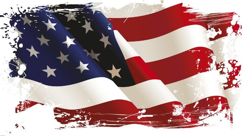 Vintage American Flag Design Vector 04