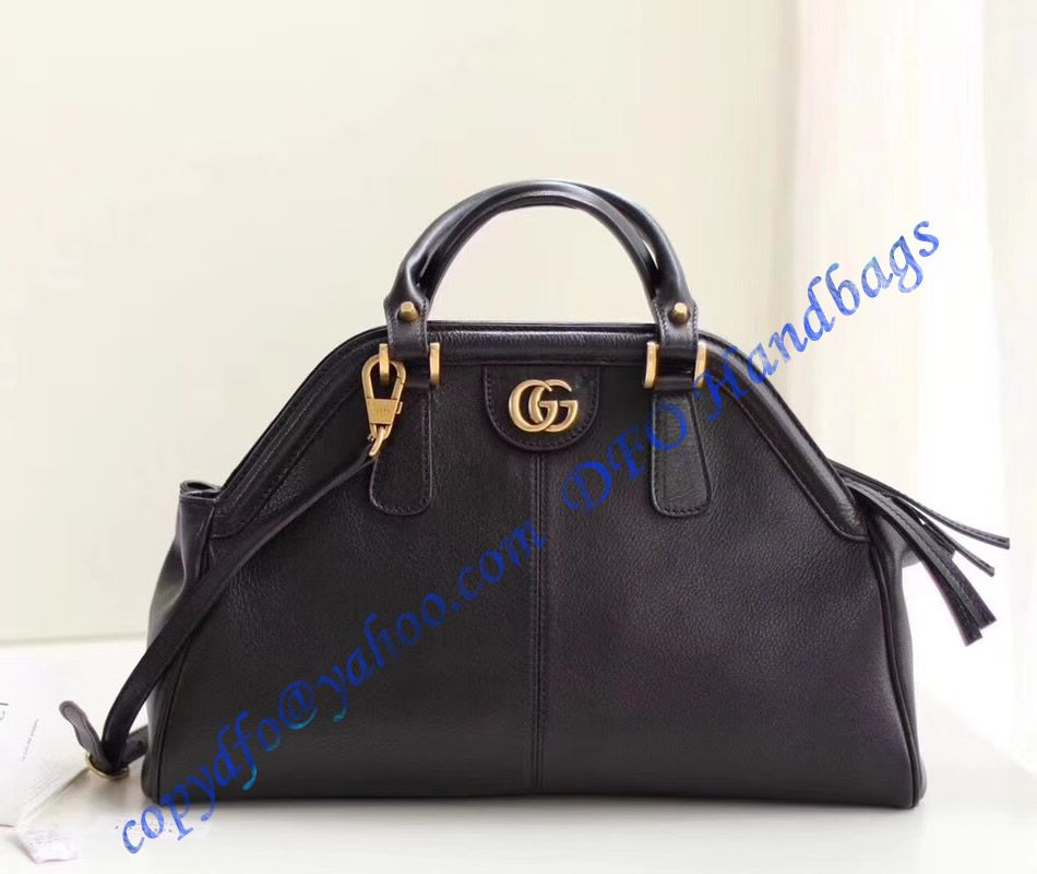 75e864cb8b9 Gucci RE(BELLE) medium top handle bag Black Leather