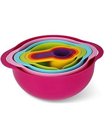 Mixing Bowl Set Mcirco Mixing Bowls Multi Color Nesting Bowl Set Large Plastic Bowl Colorful Measuring Cups Set Kitchen Sala Mixing Bowls Set Mixing Bowl Bowl