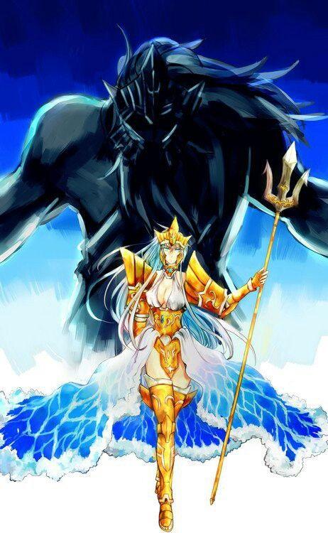 Seraphina / Poseidon. Saint Seiya: The Lost Canvas