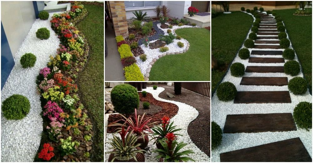 Wonderful Landscaping Ideas With White Pebbles And Stones ...