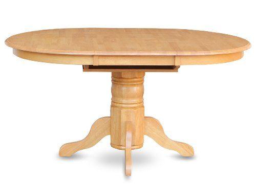East West Furniture Avt Oak Tp Single Pedestal Table Oak Finish
