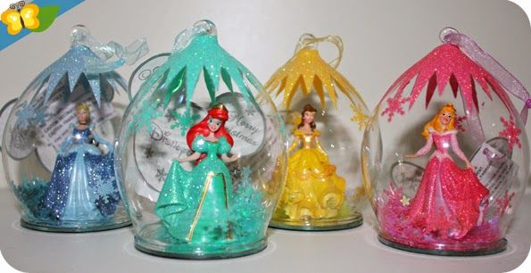 Nos boules de no l princesses disney l 39 objet de la - Boule noel disney ...