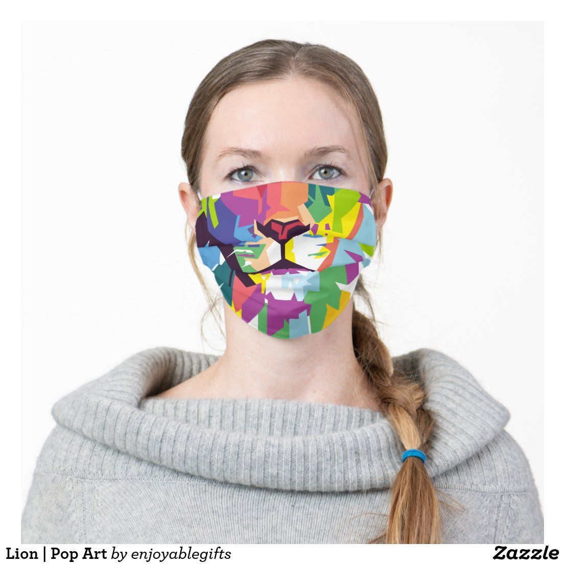 Lion Pop Art Cloth Face Mask in 2020 Pop