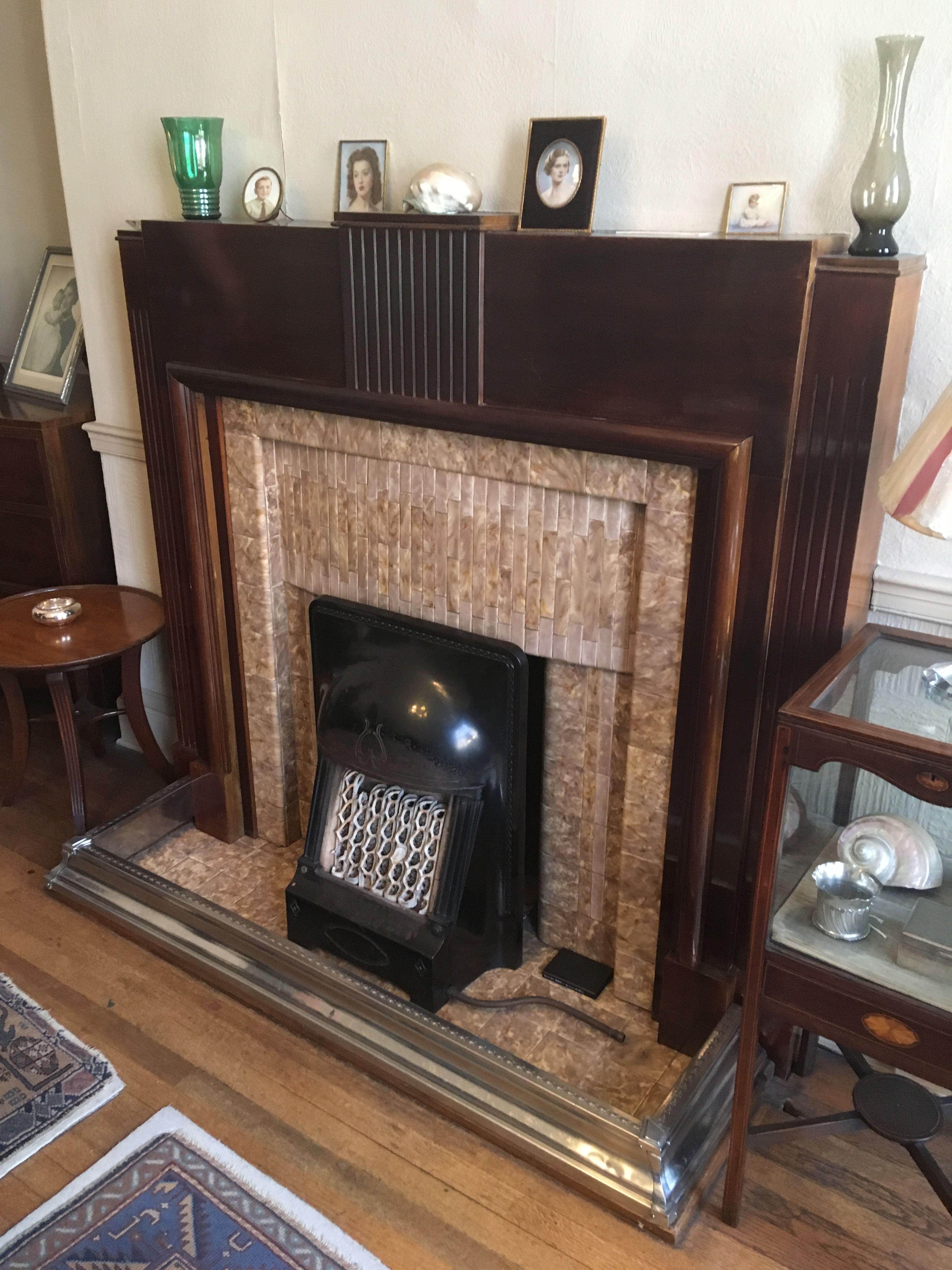 1930s Art Deco Tiled Fireplace 1930s Fireplace Art Deco Fireplace Fireplace