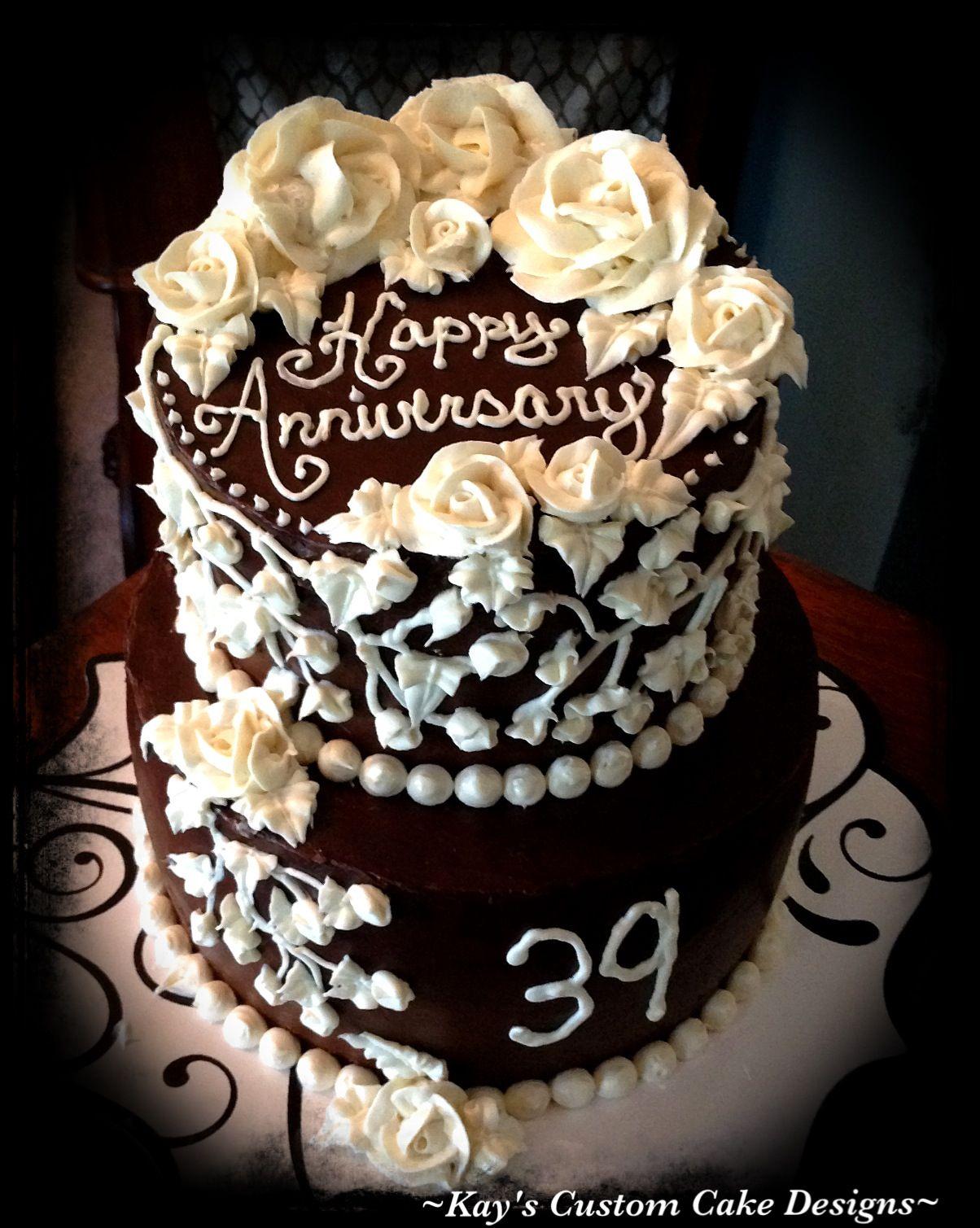 39th Anniversary Cake Sugar Free Kay S Custom Cake Designs