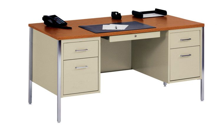 60 X 30 Double Pedestal Steel Desk By Sandusky Lee With Images