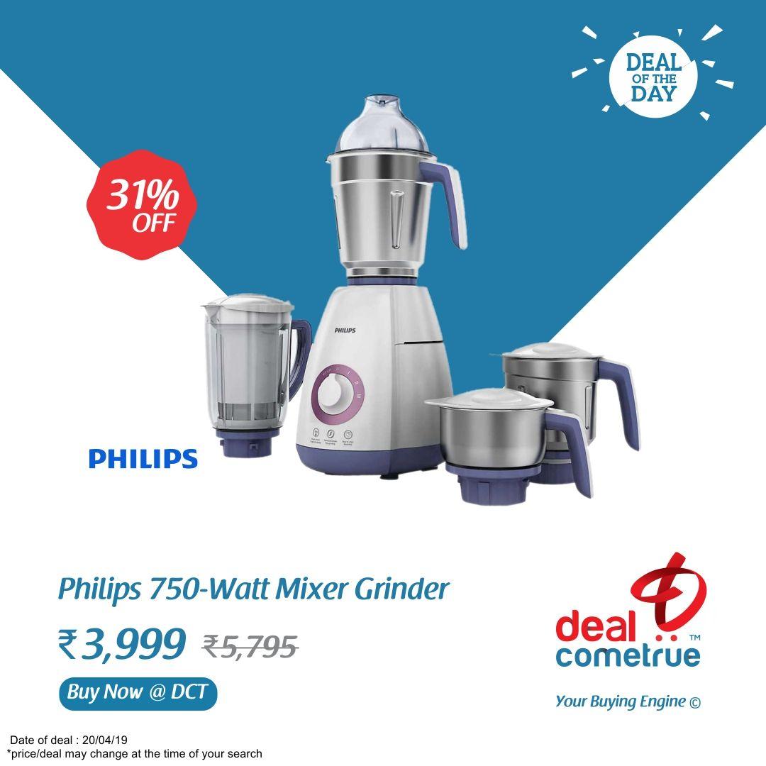 Buy Philips 750 Watt Mixer Grinder @ DealComeTrue | Mixer