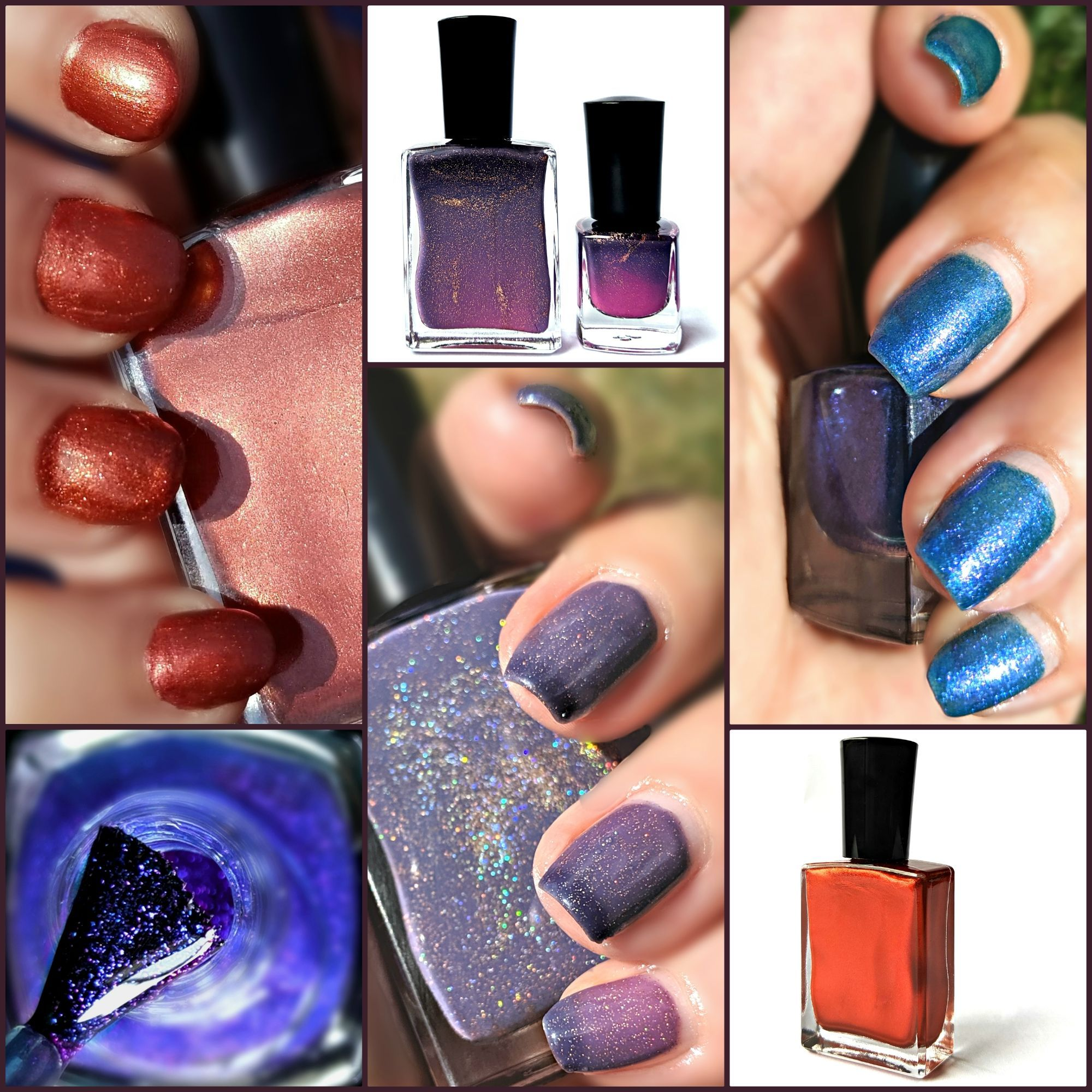Dramatic nail polish shades from TGIY's Enchanted Forest