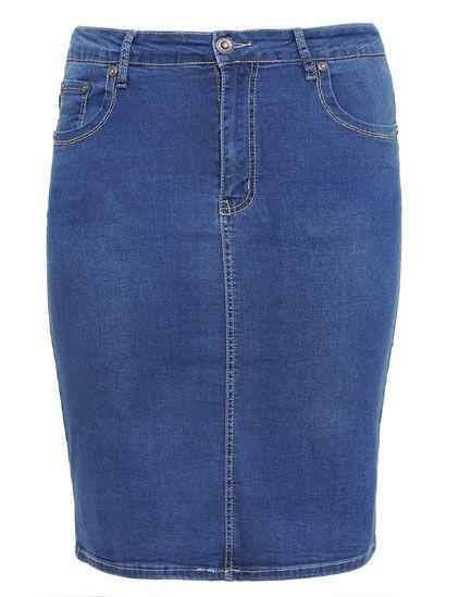 Strech Jeans Rock in Größe 52 | Jeans rock, Jeans, Jeansrock