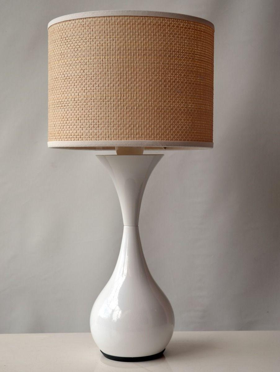 Lampara mesa velador moderna retro aluminio colores - Pantallas de lamparas de mesa ...
