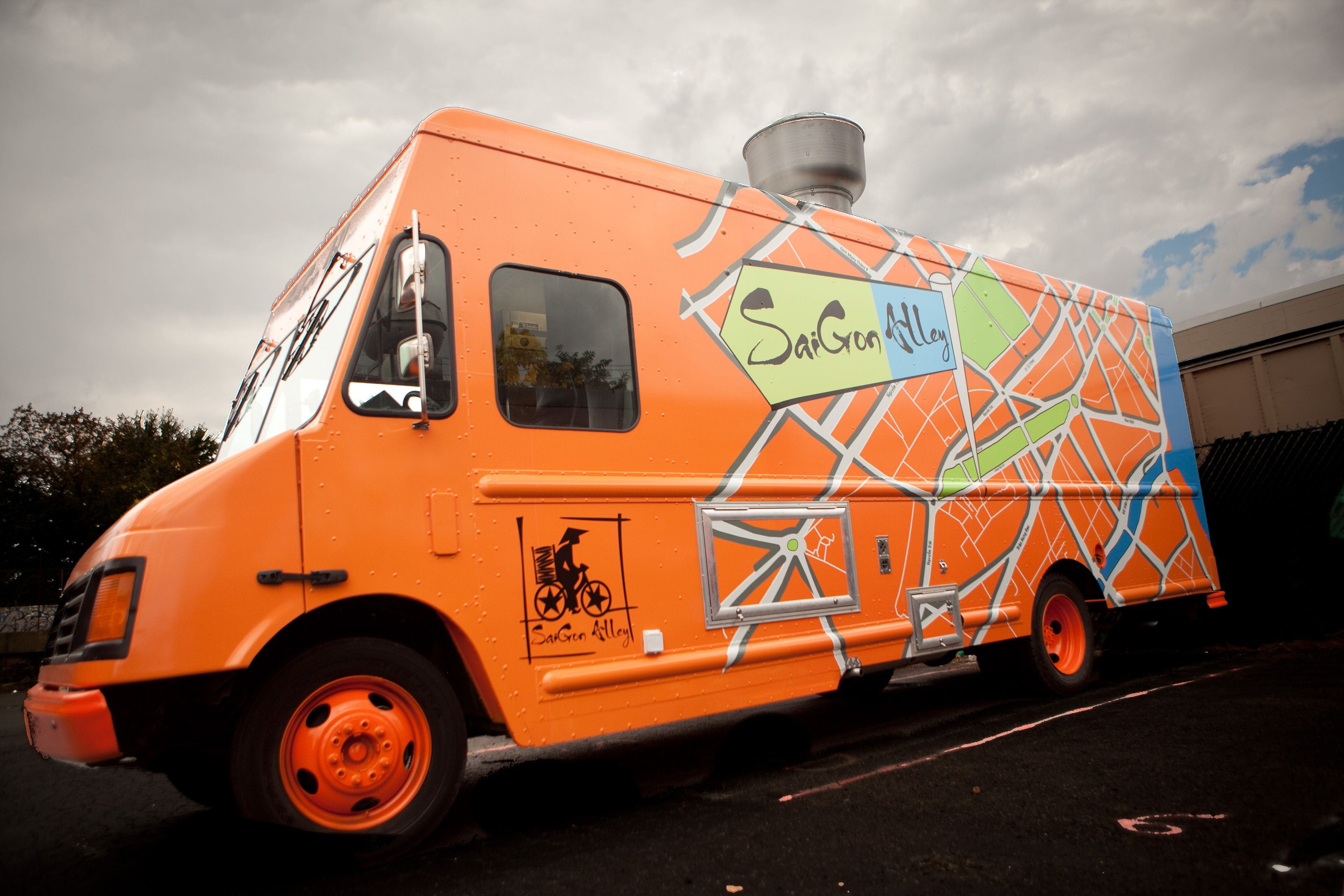 The brand new saigon alley food truck working out of the
