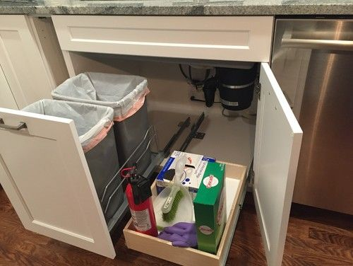 Pull Out Garbage Can Under Sink Com For Plans 16 Kitchen