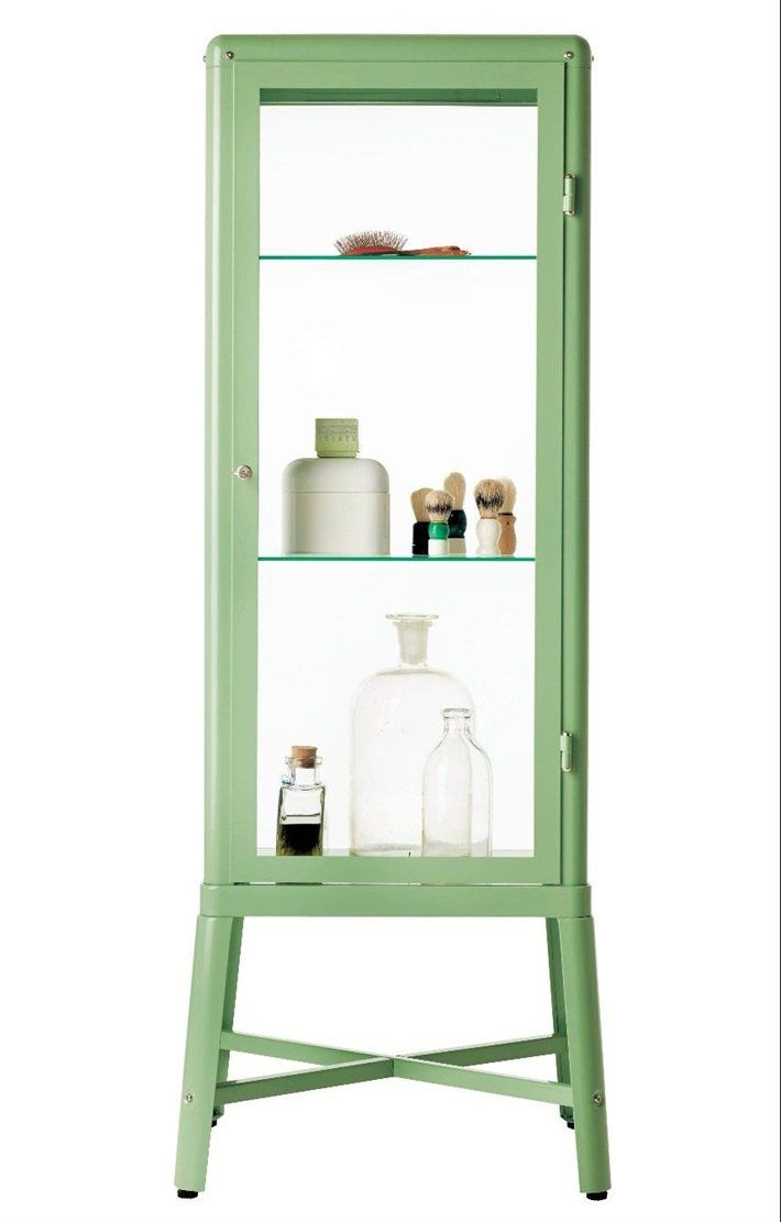 FABRIKÖR glass-door cabinet £150 57×150cm. Light green. 702.403.32 ...