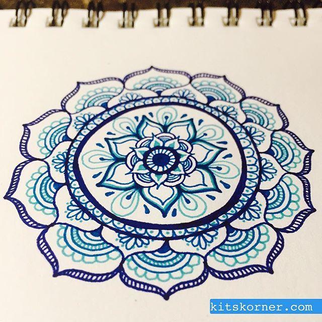 how to draw mandala art