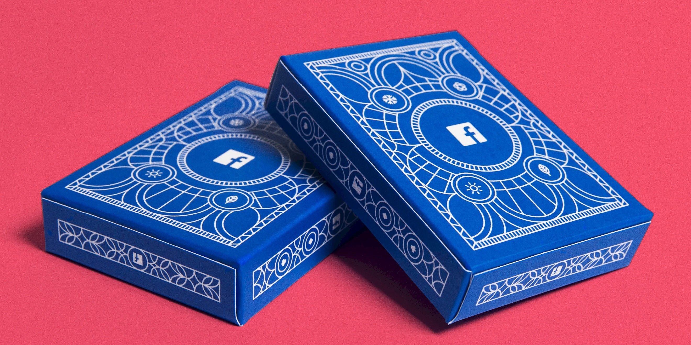 Facebook B2B playing cards deck designed by Human After All