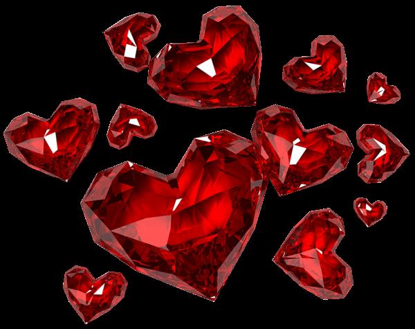 Diamond Hearts Png Clipart Clip Art Free Clip Art Red Glass Heart