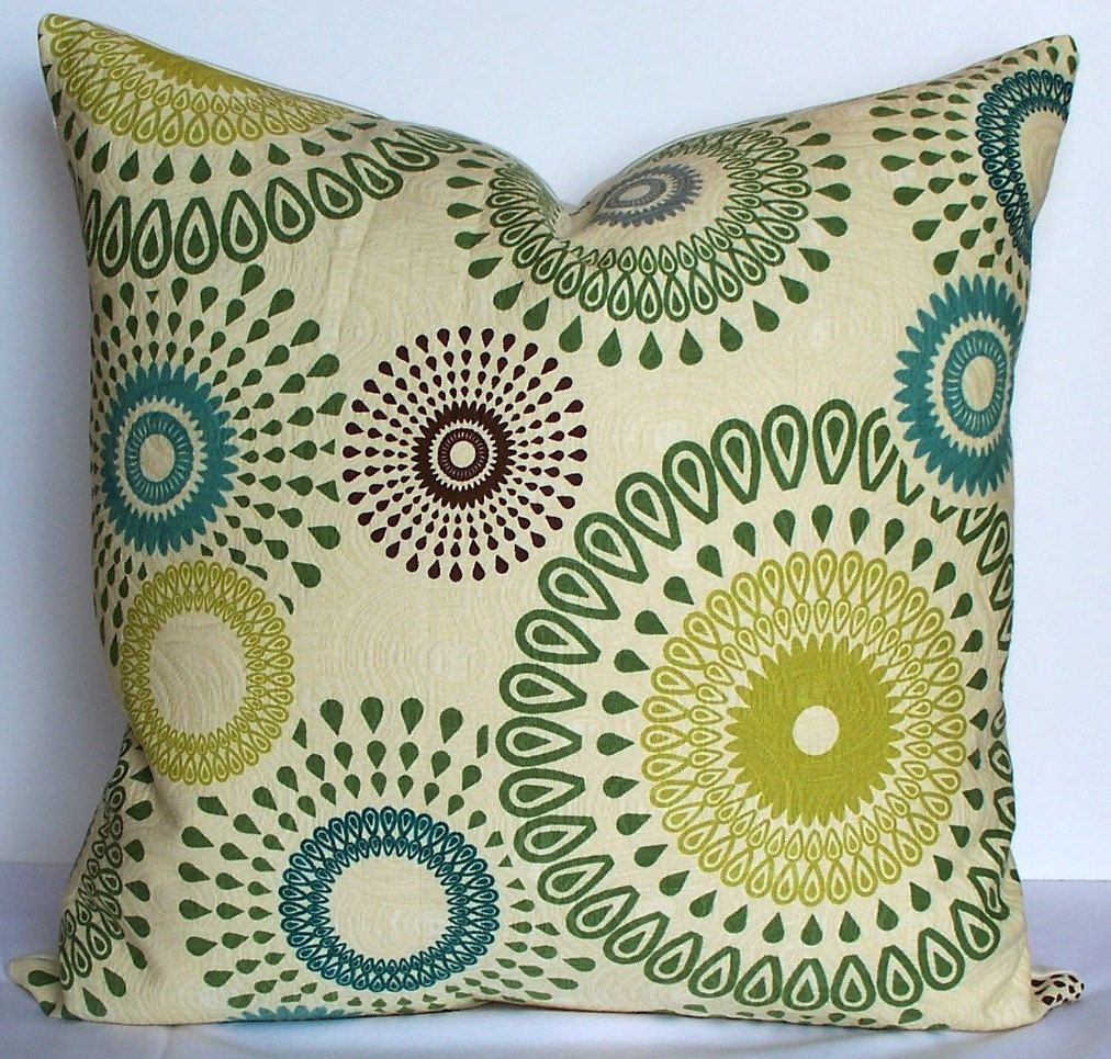 Brown and teal throw pillows - Decorative Pillow Cover 20 X 20 Matelasse Suzani Throw Pillow Teal Green Kiwi Slate Blue Brown I Need These
