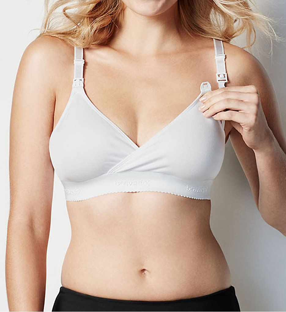 White Comfortable No Wire Nursing Bras - Bravado Designs