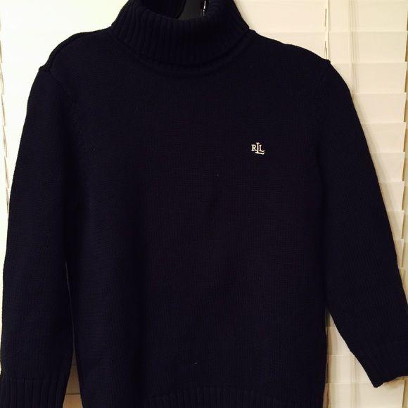 Lauren navy blue cotton turtleneck NWOT turtleneck ,navy blue cotton, Lauren Lauren Sweaters Cowl & Turtlenecks