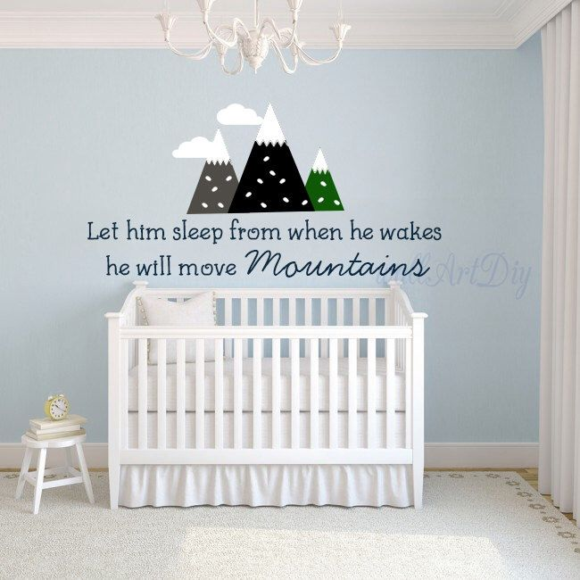 nursery wall decal nursery quote wall decal let him sleep from when