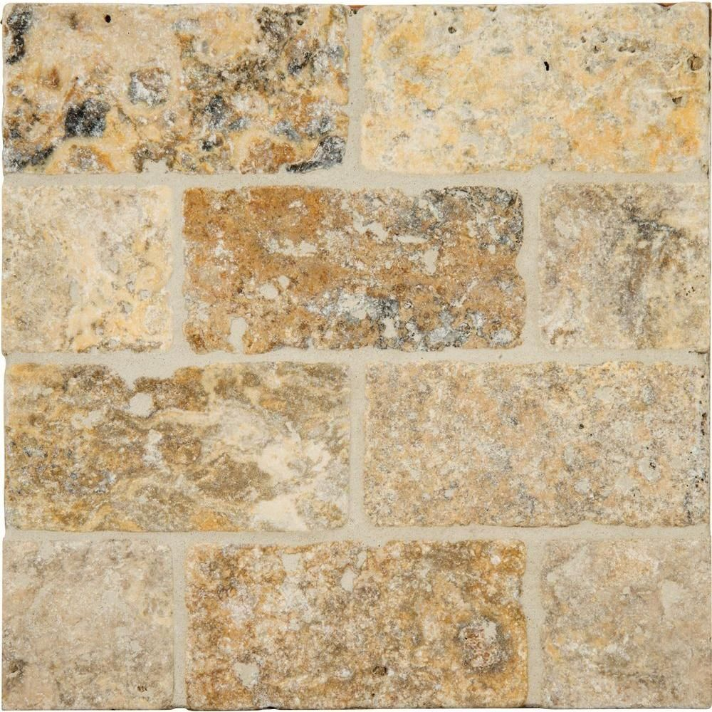 Ms international tuscany scabas 3 in x 6 in tumbled travertine tumbled travertine floor and wall tile 1 sq ft case ttscab36t the home depot dailygadgetfo Gallery