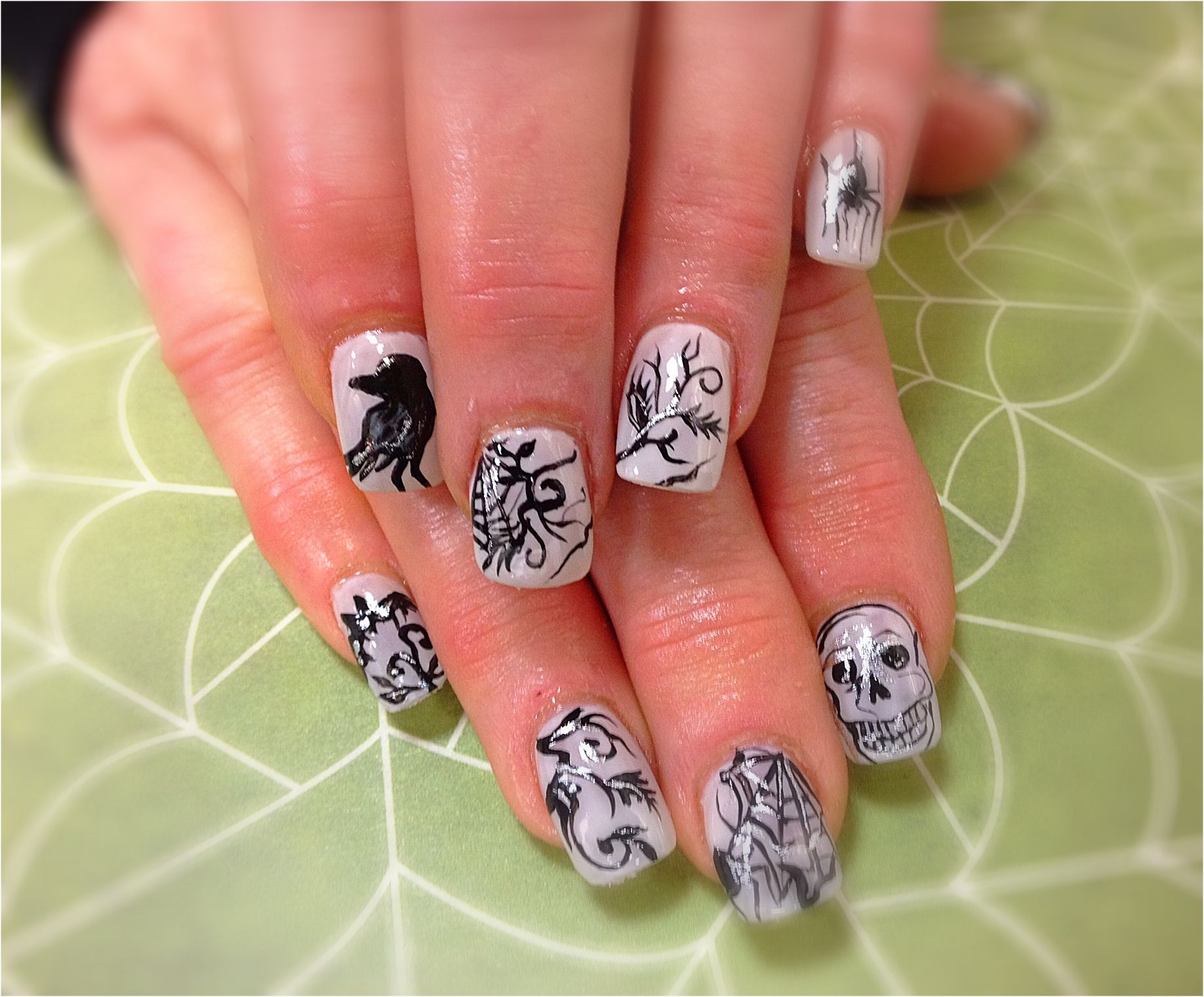 Halloween hand painted nail art | NAILS BY DINA/my work ...