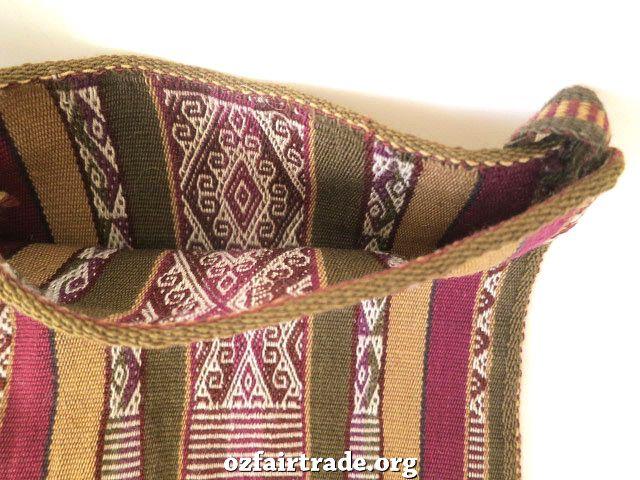 Oz Fair Trade - Andean bag (Chuspa), $89.00 (http://www.ozfairtrade.org/gift-finder/andean-bag-chuspa/)