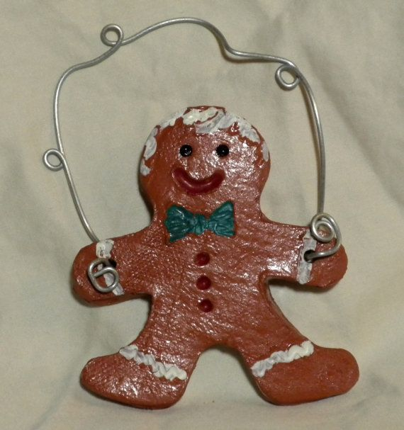 Ceramic Gingerbread Man Ornament by TemptasticTattoo on Etsy, $10.00
