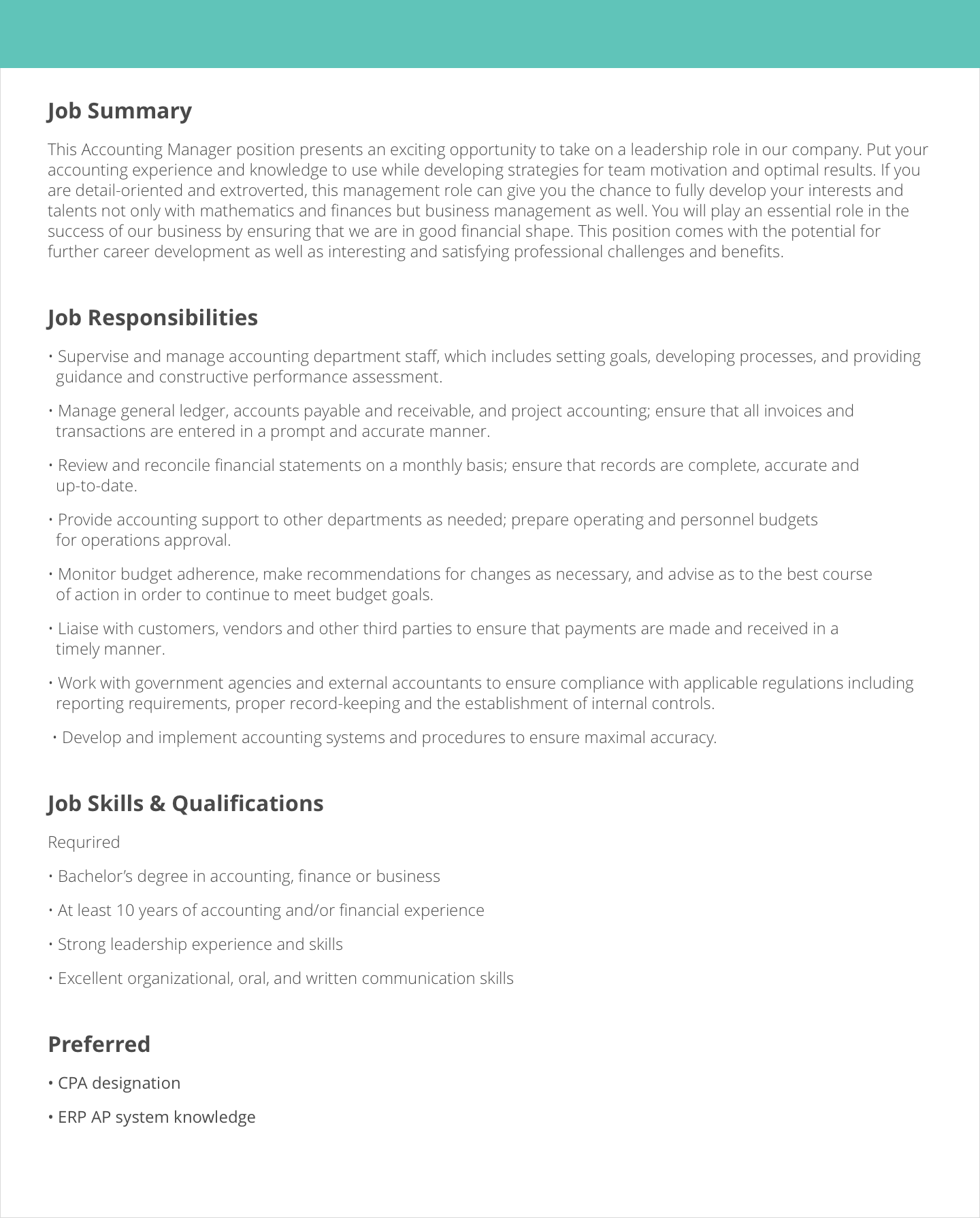 Job Description Samples Examples Livecareer Create For Retail